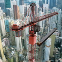 Big crane in a construction site