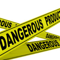dangerous product yellow tape